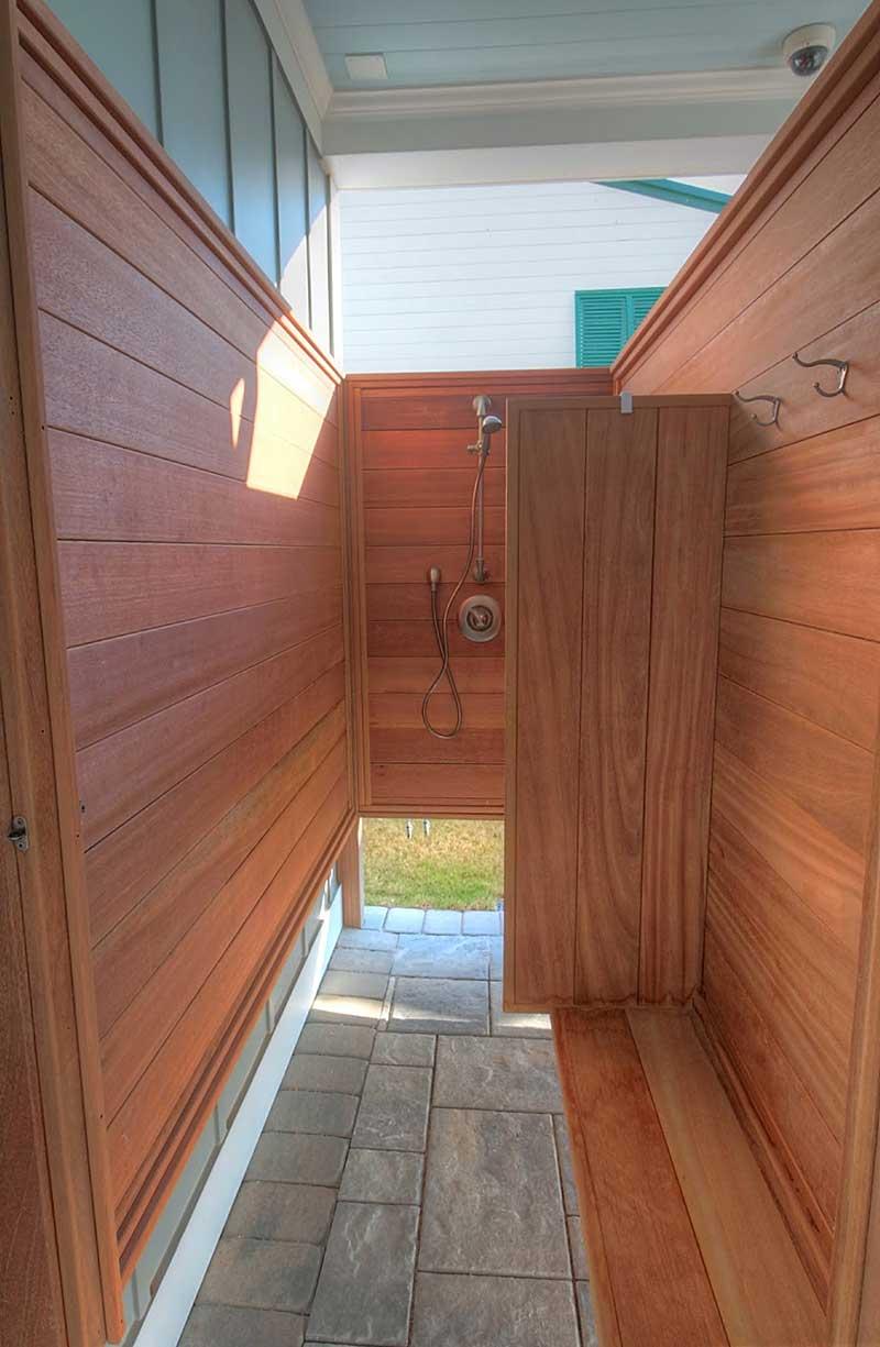 IPE Exotic Hardwood Inside Outside Shower