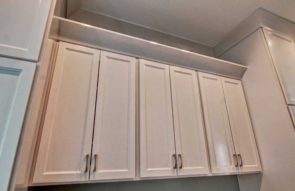 ... Full Overlay Shaker With Alabaster Finish. Cabinet Work Designed By  Simmons Custom Cabinetry